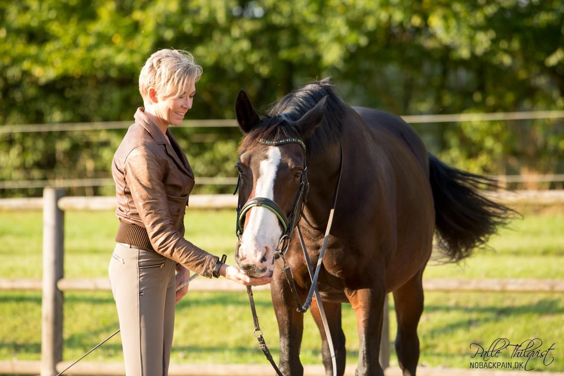 Hestene elsker dette arbejde - og Mors godbidder :)