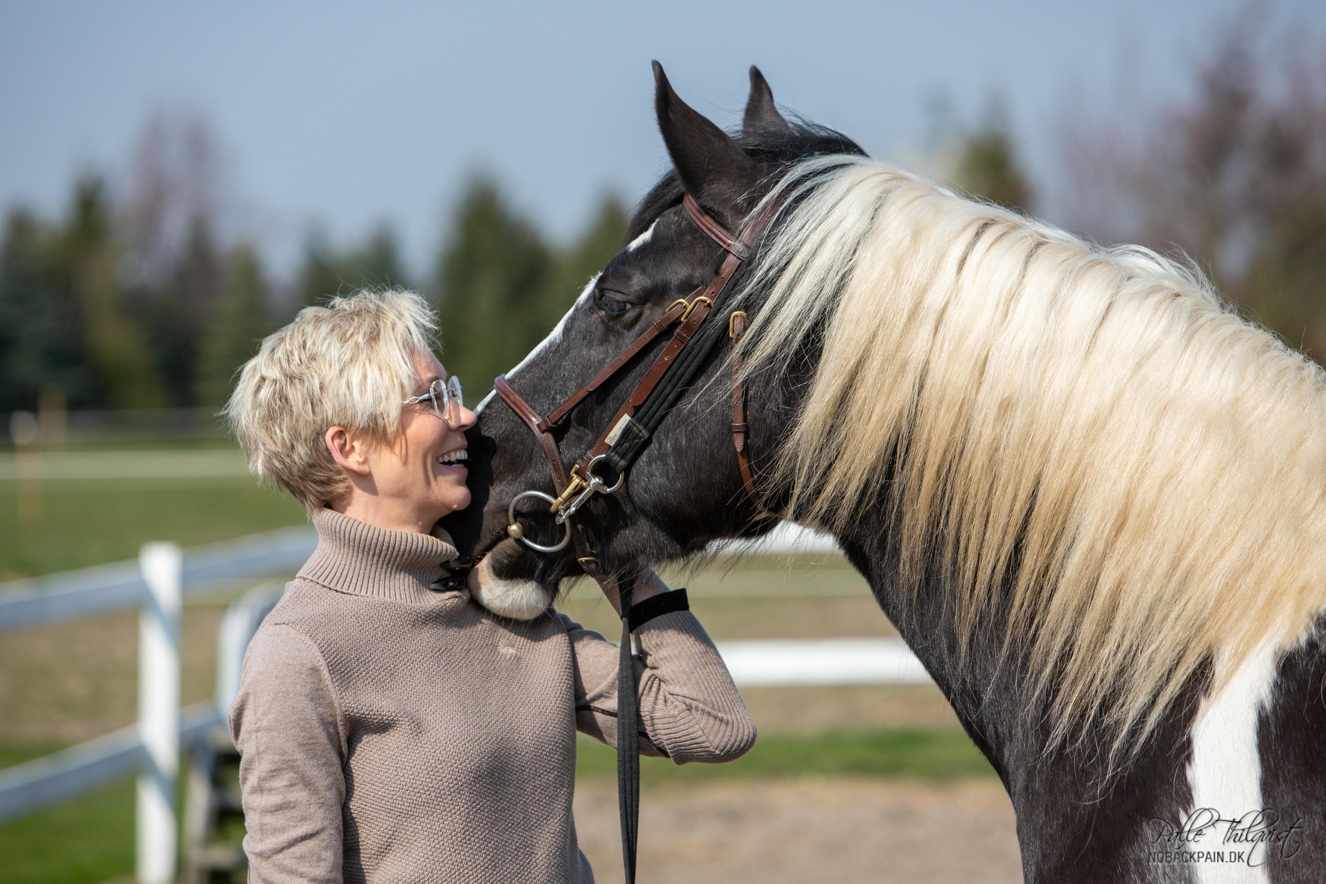 Altid arbejd med hesten i stedet for mod hesten. Den vil give dig så meget glæde tilbage.